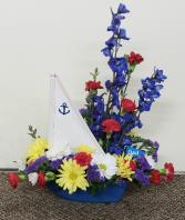 Ships A'Hoy Arrangement  fresh keepsake arrangement (Local Only)
