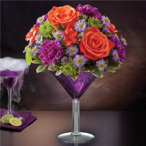 Shocktail Martini Bouquet Fall Arrangement