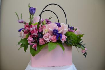 Shopping Bag of Blooms Arrangement