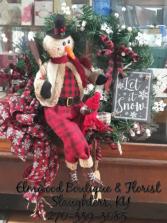 Shoveling Snowman Wreath Wreath