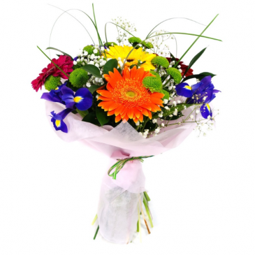 Seasonal Fresh Wrapped Bouquet Mixed Flower Wrap