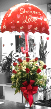 Showers of Love Red Rose Arrangement