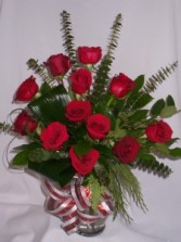 SHOWERS OF RED ROSES- Roses, Roses and Gifts Classic Red Rose Arrangements   Roses in Prince George