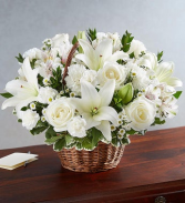 showing your love- all white floral arrangement