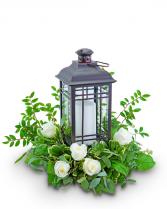 Signature Rustic Rose Lantern Flower Arrangement