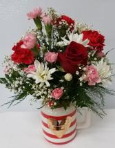 Signed & Sealed Bouquet Striped Mug w/Floral