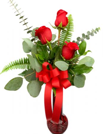 Signed XOXOXO Rose Vase