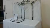 Signing table backdrop Wedding Rentals