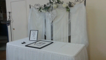 Signing table backdrop Wedding Rentals