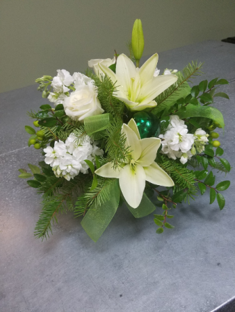 Silent Night Vase Arrangement