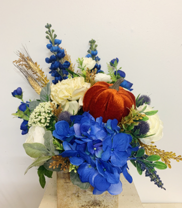(SILK) Autumn Blues  Silk Arrangement