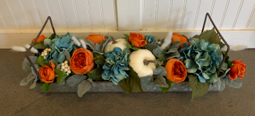 (SILK)  Autumn centerpeice Silk flower arrangement