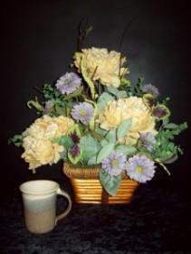 Silk Basket Arrangement Silk Flower Arrangement