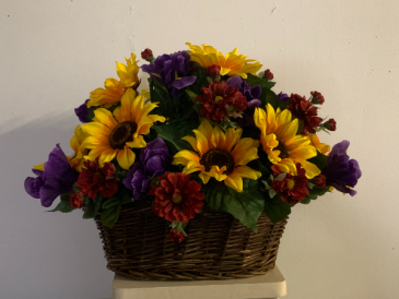 (SILK) Basket of Beauty Silk flower arrangement