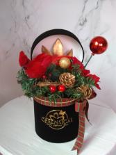 Silk Bird Christmas Arrangement