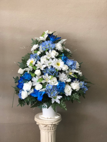 Silk Blue and White Basket