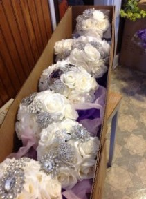 Silk Bouquet with Bling