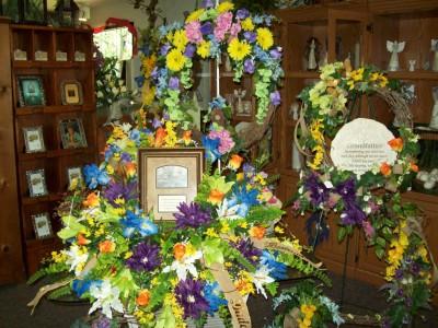 silk casket sprays symathy mixed colors