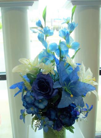 Silk Cemetery Vase