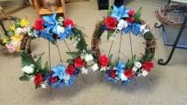 Silk Cemetery Wreath Sympathy Flowers