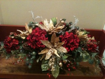Silk Christmas Centerpiece Holiday Silk in Carmel, IN - LOVE AT ...