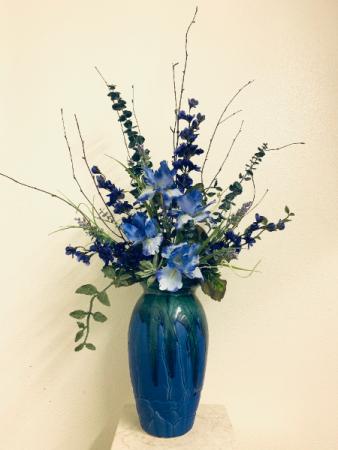 (SILK) Color Me Blue Silk Arrangement