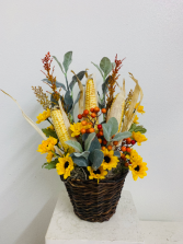 (SILK) Corn Field Dreams Silk Arrangement