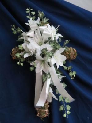 Silk Cross Arrangement Artificial Flowers in Farmville, VA | CARTERS FLOWER SHOP