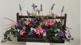Silk daisy and lavender  Silk flower arrangement