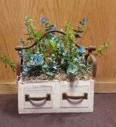 Silk drawer planter Silk Arrangement