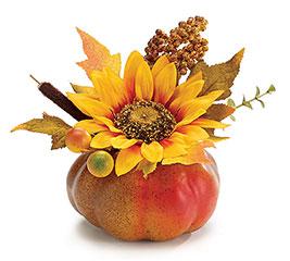 *Silk Fall Gourd Bouquet Home Decor