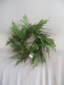 Silk Fern Wreath 20 Silk wreath