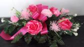 Silk Flat Spray - feminine  Funeral Arrangement