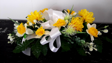 Silk Flat Spray - masculine  Funeral Arrangement