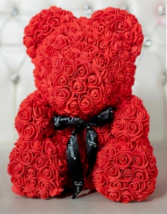 Silk rose bear rose bear silk