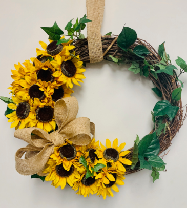 Silk Flower Wreath Gift Item