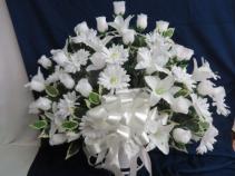 Silk Funeral Basket Artificial Basket Arrangement