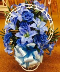 Silk Funeral Basket Basket