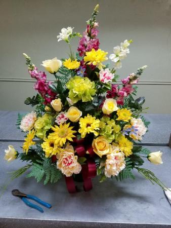 SILK Funeral Basket Funeral Basket
