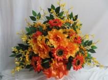 Silk Funeral Basket Silk arrangement