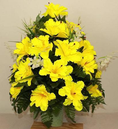 Silk Graveside Inserts Floral Arrangement