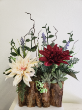 (SILK) Happiness in the Woods Silk flower arrangement