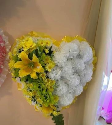SILK HEART Funeral Flowers