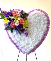 Silk Heart - Large Silk Arrangement