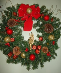 Silk  Holiday Wreath