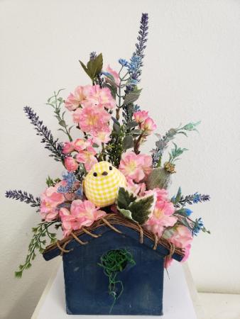 (SILK) Home Tweet Home Silk flower arrangement