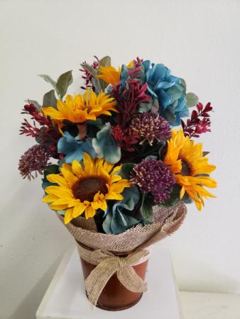 (SILK) In The Garden Silk flower arrangement