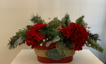 (SILK) Merry Centerpiece Silk flower arrangement