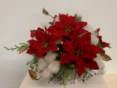 (SILK) Merry Christmas Silk flower arrangement
