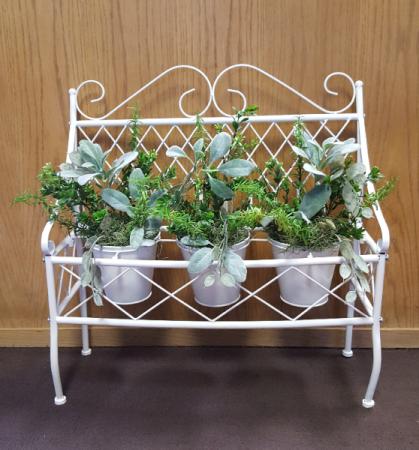 Silk metal planter Silk Arrangement